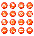computer repair service icons set red vector image vector image