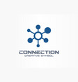 connect creative symbol concept social media vector image