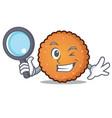 detective cookies character cartoon style vector image vector image