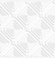 Diagonal white offset squares pattern vector image vector image