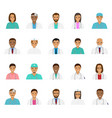 doctors and nurses characters avatars set medical vector image vector image