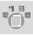 document bubble speech social media vector image vector image