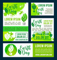 earth day green nature environment design vector image vector image