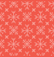 embroidery snowflake stitches seamless vector image