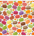 french macarons in seamless pattern vector image vector image