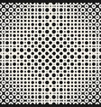 geometric monochrome halftone seamless pattern vector image vector image
