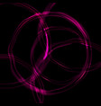 glossy purple glowing circles abstract background vector image
