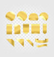 golden tags and ribbons collection isolated on vector image