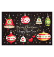 greeting card merry christmas and happy new year vector image vector image