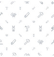 hammer icons pattern seamless white background vector image vector image