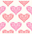 hand drawn hearts design elements for valentine s vector image