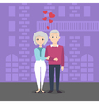 happy smiling senior married couple in love vector image vector image