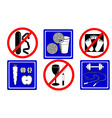 Healthy lifestyle icons objects vector image vector image