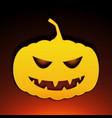 icon halloween pumpkin on black background vector image vector image