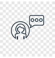 influencer concept linear icon isolated on vector image