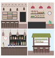 interiores workspace coffee shop restaurant vector image