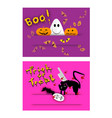 jack-o-lanterns ghost and evils on halloween back vector image vector image