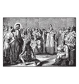 jesus appears before caiaphas the high priest vector image vector image