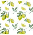 lemon branchand slice seamless pattern vector image vector image