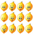 lemons with different emoticon vector image vector image