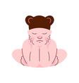 lovely newborn bain bear cap sleeping vector image
