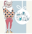 Merry Christmas Background With Santa vector image vector image