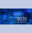 modern 2021 text design in deep blue color light vector image