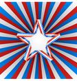 Patriotic star vector image vector image