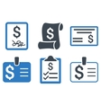Payment Cheque Flat Icons vector image