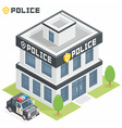 Police department building vector image