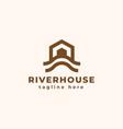 river house logo design inspiration vector image vector image