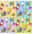 seamless easter pattern vector image vector image