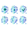 security icons surveillance key access alarm vector image