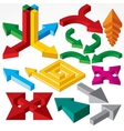 Set of isometric arrows and design elements vector | Price: 1 Credit (USD $1)