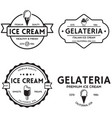set vintage ice cream shop logo badges and vector image vector image