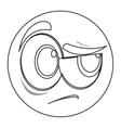 side eye face emoticon icon vector image vector image