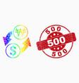 spectrum dot dollar exchange korean won vector image vector image