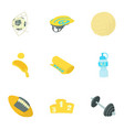 sport things icons set cartoon style vector image vector image