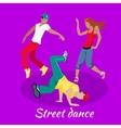 Street Dance Concept Flat Design vector image