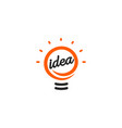 stylized sign lightbulbs white and vector image vector image