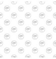 surprised smile pattern seamless vector image