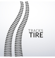 tire tracks on white isolated elements for vector image vector image