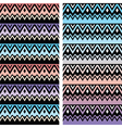 Tribal seamless two patterns aztec ombre print vector image vector image