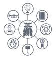 university round icons vector image