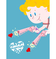 Valentine Happy Valentines day Cupid and Colt Two vector image