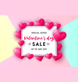 valentines day sale concept vector image