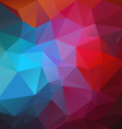 vibrant red blue abstract polygon triangular vector image vector image