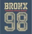vintage bronx typography vector image vector image