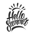 vintage hello summer typographic lettering vector image