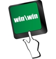 win button on computer keyboard key vector image vector image